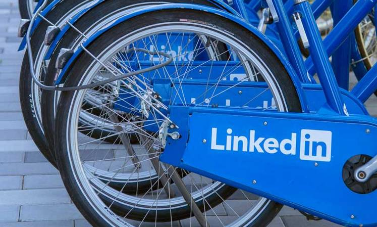 LinkedIn sign on bikes
